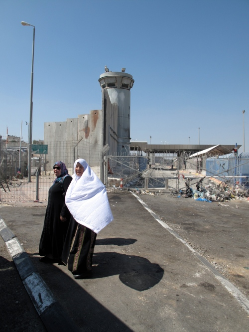 Palestinian women at the Separation Barrier