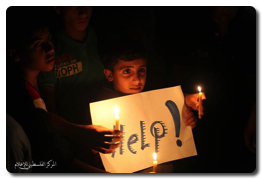 Gaza Children sit-in to protest power cuts and banning entry of fuel by Israel  - Nov 3, 2013 (Click to see the full album)