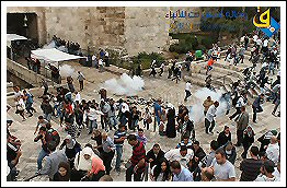 Arrests and injuries during suppression of the march in support of Al-Aqsa Mosque Sept 25, 2013 (Click to see the full album)