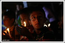 Children of Gaza during candle light sit-in to protest electricity crisis and fuel scarcity - Sept 19 2013 (Click to see the full album)