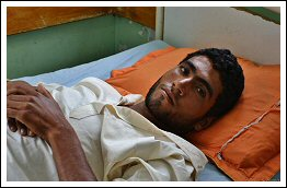 Young Palestinian Farmer shot by Israeli snipers in Gaza - June 2, 2013 (Click to see the full report by Rosa Schiano)