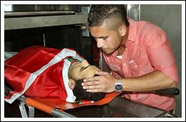 Israel's army assassinate Palestinian Majd Mohammad Anis Lahlouh with a bullet to his heart - Aug 20, 2013 (Click to see the full report and photos)