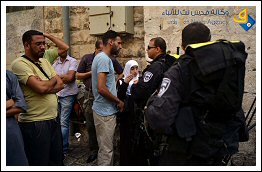 Israel allows settlers but prohibits Palestinian worshipers access  to Al-Aqsa Mosque (Click to see the full album)