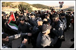 Villagers and Press return to Bab Al-Shams and get attacked again - Jan 15, 2013 (Click to go to the Live Blog & Album)