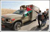 Israel blocks a convoy near Jericho, Jan. 19, 2013( Click to see the full report and album)