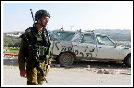 Settlers smashing vehicle and stepping slogans in Bethlehem - Jan 4, 2013