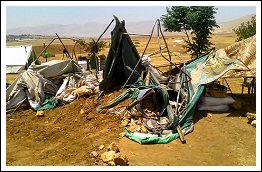 June 27 2013 - House demolitions leave four families unsheltered in Khirbet Atuf (Click to see the full album)