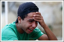 Thousands of citizens mourn shaheed Karim Abu Isbeah. Killed by Israel during his funeral Sept 1, 2013 (Click to see the full report)
