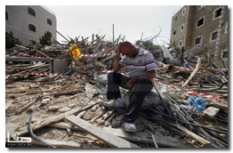 Israel demolishes a residential building in Beit Hanina for Qirresh family - Oct 30, 2013 (Click to see the full album)