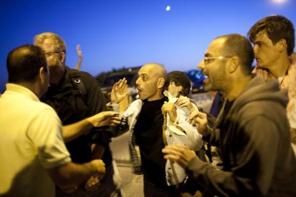 Jewish settlers attack left wing Activists - Jerusalem