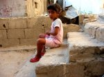 A girl in a Palestinian Refugee Camp