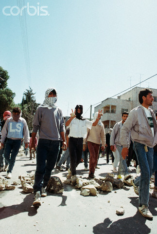 18 Mar 1988, Ramallah, West Bank --- Intifada Riot --- Image by  David Rubinger/CORBIS