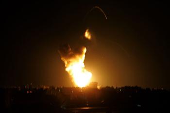 Several Residents Injured In Air Strikes Targeting Gaza - International Middle East Media Center