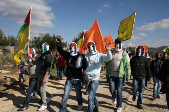 Bil'in Demo in Honour of Shaheeda Jawaher Abu Rahma - Jan 6, 2012