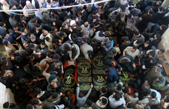 Gaza, funeral of the shuhada March 10, 2012 Picture by WAFA