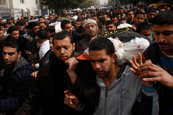 in Gaza City, Tuesday, March 13, 2012.  (AP photo/Hatem Moussa)