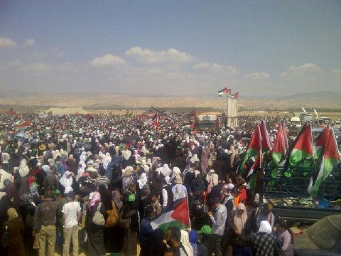 Global March Jordan to Jerusalem. Not allowed to enter Palestine. March 30, 2012