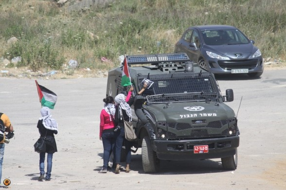Confrontations at Ofer prison during demo in solidarity with PalHunger strikers - June 11, 2012 Photo by Raya.ps