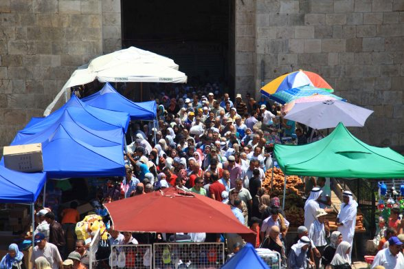 Third Friday of Ramadan. Damascus Gate, Al-Quds (Jerusalem) Aug 3, 2012 | Photo by WAFA