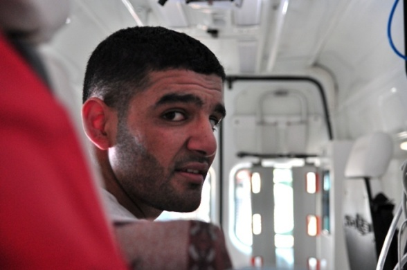 Mahmoud Sarsak finally home in Gaza - July 10, 2012 Photo by PalToday