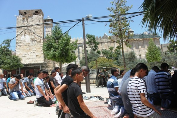 Ibrahimi Mosque, al-Khalil (Hebron) First Friday of Ramadan July 20, 2012 Photo by WAFA