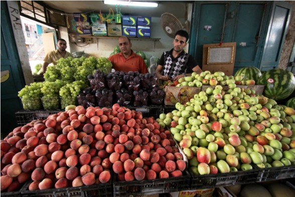 Bethlehem market in the first day of Ramadan. July 20, 2012 Photo by WAFA