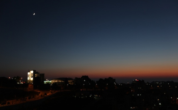 First moon of Ramadan 2012 - Photo by WAFA