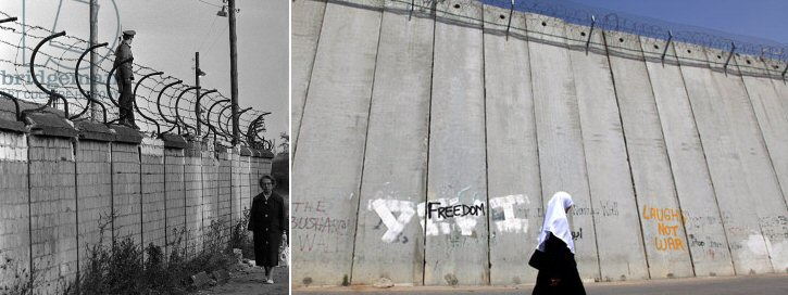 Berlin vs Israeli Apartheid wall in Palestine | And your mother walks alone aside a concrete wall of hate …