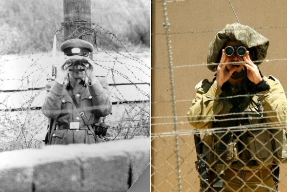 Berlin vs Israeli Apartheid wall in Palestine | While border control is watching you...