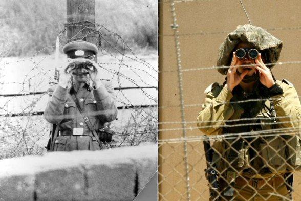 Berlin vs Israeli Apartheid wall in Palestine | While border control is watching you...