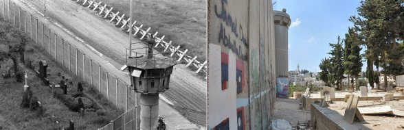 Even the death made inaccessible in Berlin and Palestine, cemeteries sealed in by the Wall