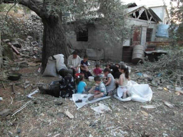 Oct 12, 2012 | Settlers Attack and Injure Palestinians Harvesting Olives in Tel Rumeida Photo by ISM Palestine