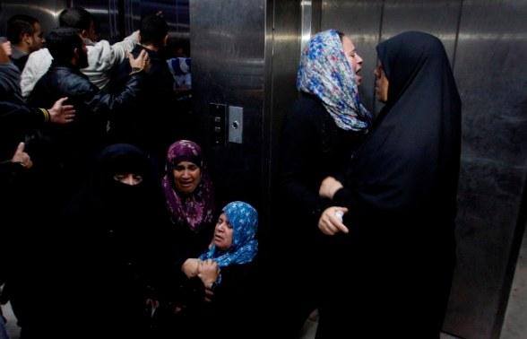 Family mourning in Gaza after several youth got killed, all civilians. Nov 10, 2012 Photo by WAFA