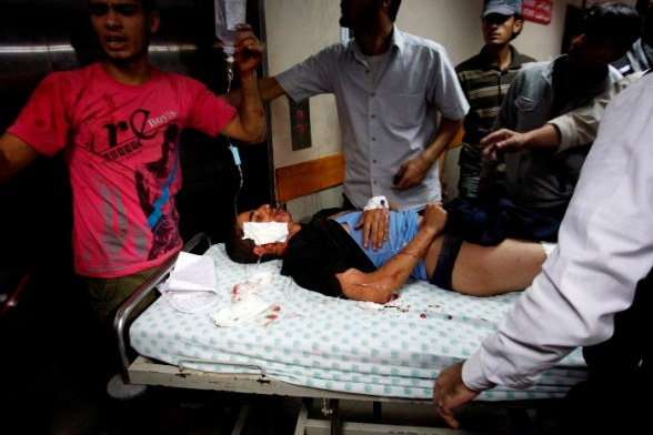 Gaza wounded after Israeli attacks - Nov 10, 2012 Photo by WAFA