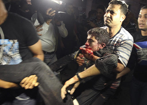 #GazaUnderAttack | Nov 10, 2012 Wounded in Gaza
