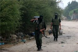 Al-Qassan fighters pictured in Gaza.(MaanImages/file)