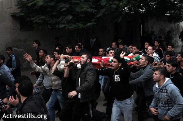 Funeral of Palestinians killed by Israeli military attack, Gaza, 11.11,2012