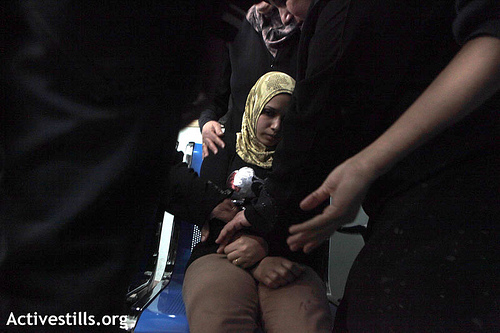 Photo: A woman in the Al Shifa hospital, city of Gaza - Photo by ActiveStills