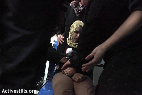 Photo: A woman in the Al Shifa hospital, city of Gaza - Photo by ActiveStills