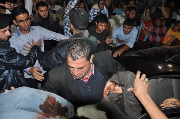 Photo of wounded in Gaza Nov 10, 2012 - Photo via @GazaYBO