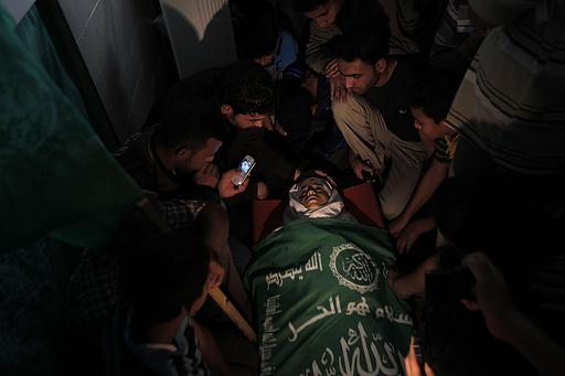 The funeral of 13 year old child Hamid Younis Abu Dagka  killed by Israel on Nov 8, 2012 buried in Gaza on Nov 9, 2012 | Photo via Paldf.netPhoto via Paldf.net
