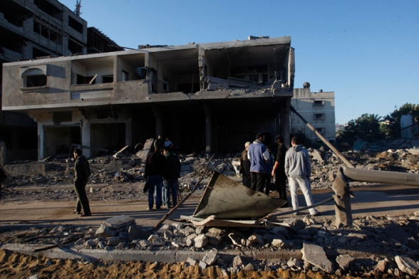 Nov 15 2012 Gaza Under Attack Israel Operation Pillar Cloud - Photo by WAFA