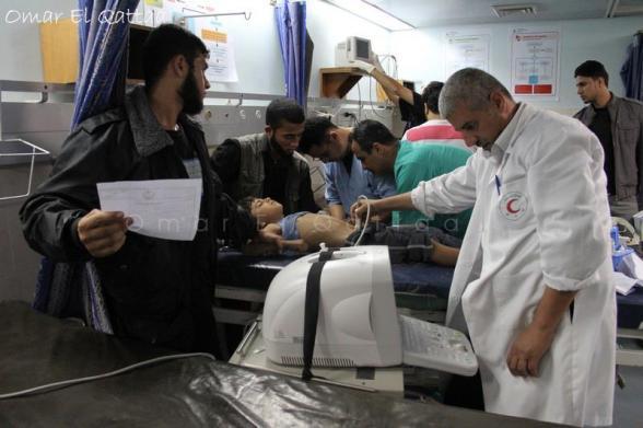 Wounded in Gaza - Nov 17, 2012