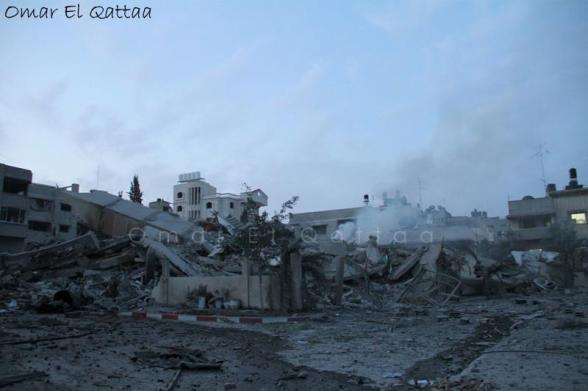 Gaza Under Attack - Nov 17, 2012 Photo by Omar Al Qatta
