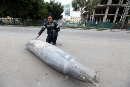 One of the bombs Israel dropped on Gaza Nov 17, 2012 - Photo via @ThisIsGaza