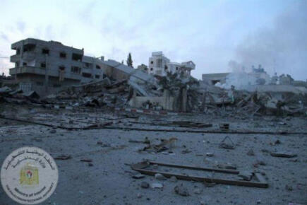 Nov 17 2012 Gaza Under Attack This was a 4 story buidling via @ThisIsGaza
