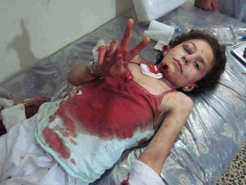 """Amal""(Hope) the name of this Gazan girl who is injured but still has Hope for victory - Photo via @Yasmin_Gaza"