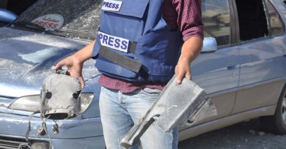 Israel targeting journalists in Gaza caused martyrs and many wounded - Nov 19, 2012 Photo by Paltoday.ps