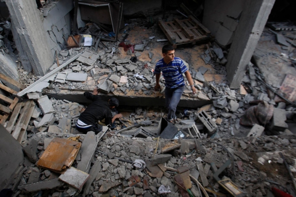 Funeral of the children of the ad-Dhalou family Nov 19, 2012 - Gaza Under Attack by Israel Photo WAFA