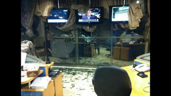 Nov 21 2012 AlJazeera Office shelled by israel Gaza Under Attack